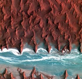 namib desert seen from space