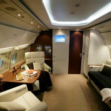 private office at airbus A318 elite