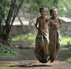 sack race happiness