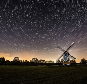 windmill under the stars