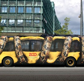 creative zoo ad on a bus