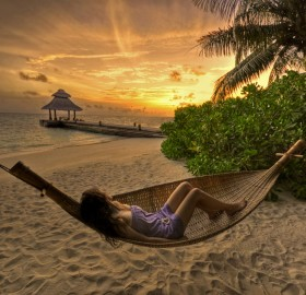 enjoying the sunset, baros, maldives