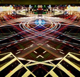 light trails of speed, tokyo