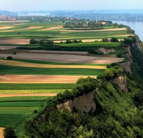 the right bank of danube river, serbia