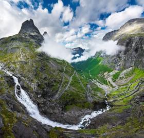 trollstigen, norway`s most famous mountain road