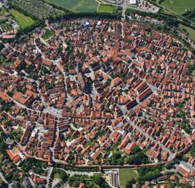aerial view of nördlingen, germany
