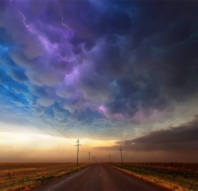 beautiful colorful storm