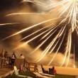 enjoying holiday fireworks