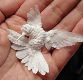 hummingbird made of paper