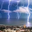 lightning storm, ventura, california