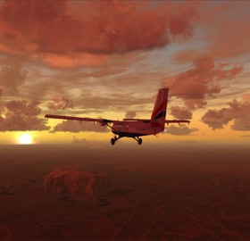 morning flight over uluru, australia