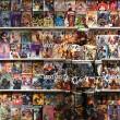 artist blends himself into comic book shelf