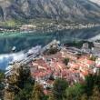 beautiful view on kotor bay, montenegro