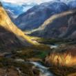 chulyshman valley, russia