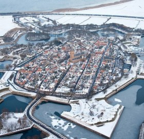 fort bourtange at winter, holland