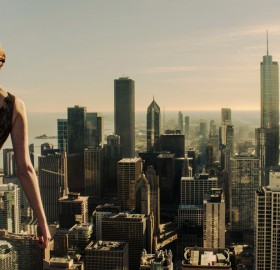 girl rooftoping in chicago