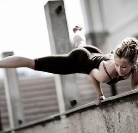 hand balance, fitness girl