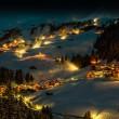 magical winter night in damüls, austria