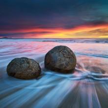 moeraki boulders, new zealand