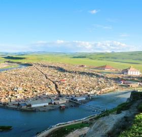 view on tibetan village