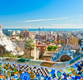 a magical view on barcelona