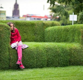 big grass sofa, frankfurt, germany