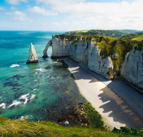 cliffs of etretat and yport, france
