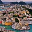 colorful city of alesund, norway
