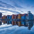colorful city of groningen, holland
