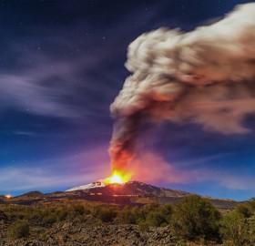 mount etna eruption, sicily