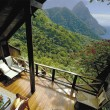 breathtaking view from balcony, st. lucia