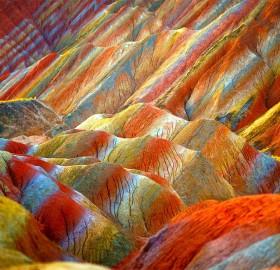 colors of zhangye danxia, china