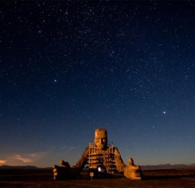 incredible sculpture in deserts of the tankwa karoo, south africa