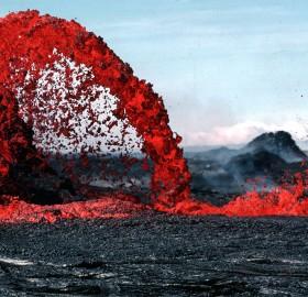 lava fountain, hawaii