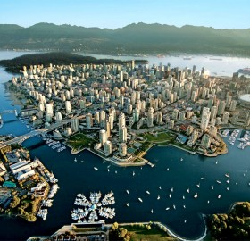 vancouver city from above