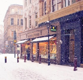 winter in manchester, england