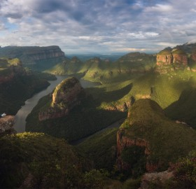 a stunning view on blyde river canyon, south africa