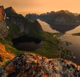 lofoten at dusk, norway
