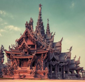 sancutary of truth temple, thailand