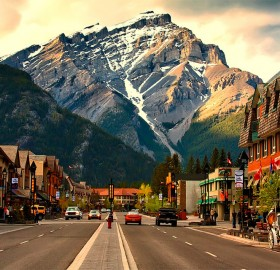 banff, lovely town in canada