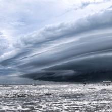 storm over beach, florida