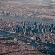 tilt-shift aerial of new york city
