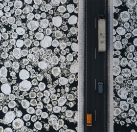 a bridge over icy water