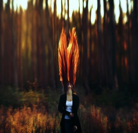 girl with a fire hair