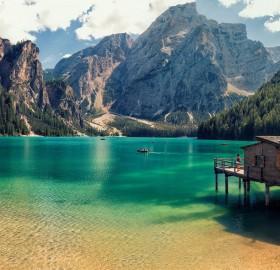cabin in lake prags, italy