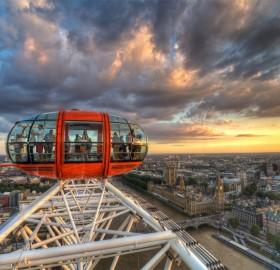london from an eye