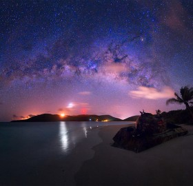 milky way over puerto rico