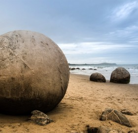 sphere rocks, new zealand