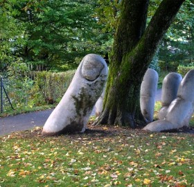 the caring hand sculpture, switzerland