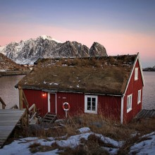 typical lofoten house, norway